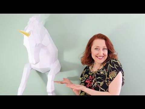 Wow! Big Unicorn Paper Sculpture with Origadream Template!