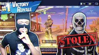 I HACKED KID'S SKULL TROOPER CUENTA Y ESTE HAPPENED... ¡NASTIEST FORTNITE PRANK NUNCA!