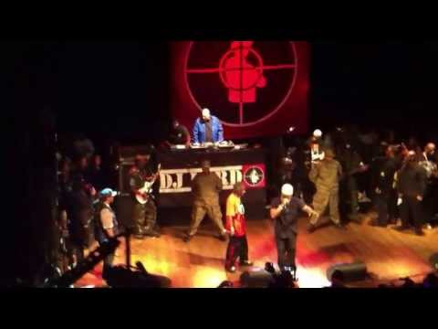 Public Enemy performs Rebel without a Pause and Terminator X to the edge of Panic with surprises