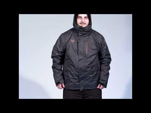 Xtm Baxter Mens Plus Size Snow Jacket Black Marle