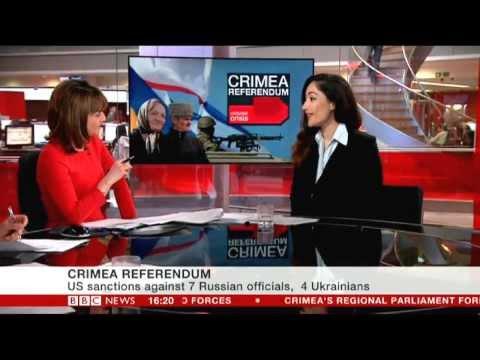 EU & US impose sanctions on Russian/Ukrainian officials, Nina Schick  BBC news