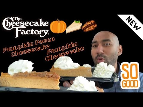 Cheesecake Factory New Pumpkin Cheesecake Pumpkin Pie Cheesecake Review Youtube