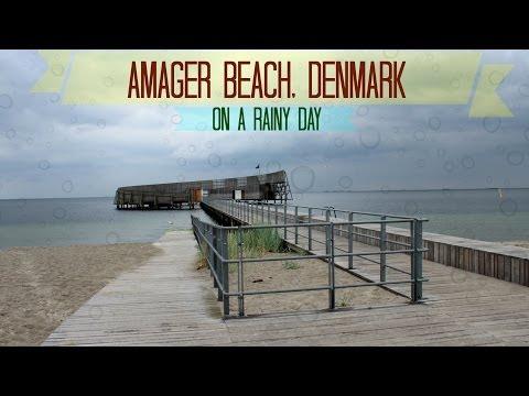 Tour of Amager beach, Denmark on a rainy day