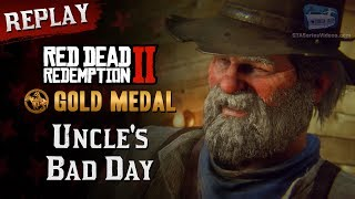 RDR2 PC - Mission #100 - Uncle's Bad Day [Replay & Gold Medal]