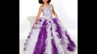 видео Нарядные платья для девочек. От года до 10 лет.