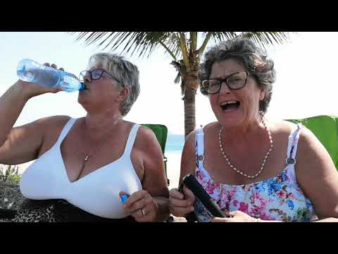 Fun Grannies Hanging Out At The Beach
