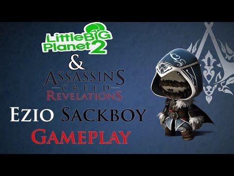 Little Big Planet 2 - Assassin's Creed Revelations Ezio Sackboy Costume Gameplay [1080p]