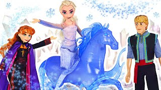 Witch is bothering Anna! Frozen2 Elsa, Nokk~ Let's go arrest the witch! | PinkyPopTOY