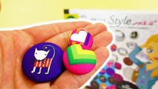 Buttons selber machen ohne Maschine   Coole Knöpfe mit Style Fashion Set   Mode selber machen
