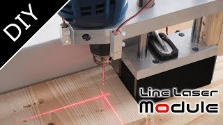 【DIY】格安レーザーを改造。ラインレーザー変換モジュールを作ってみた~How to make Line laser module