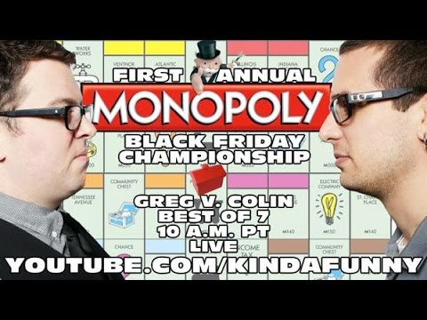 Colin vs. Greg - First Annual Monopoly Black Friday Championship