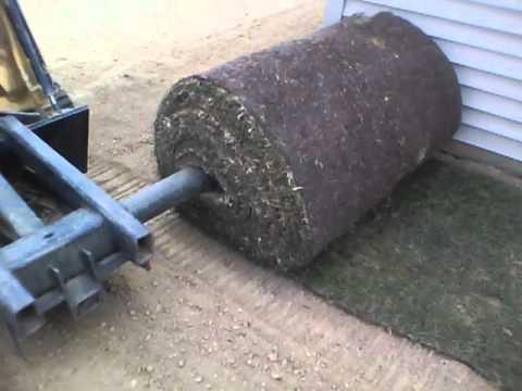 John Deere Skid Steer >> sod installer attachment - YouTube
