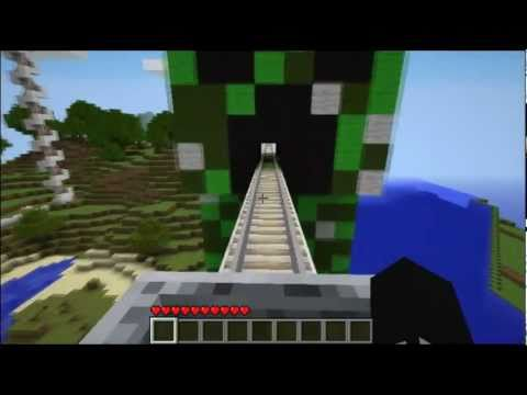 Thumbnail: Minecraft Roller Coaster :: Creeper Statue - City Craft Server (IP in description!!)