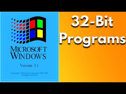 Running 32 Bit Software In  Microsoft Windows 3.1 Using Win32s