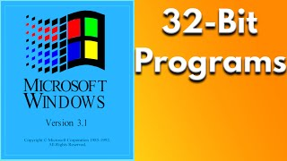 Running 32bit Applications in Windows 3.11 with Win32s