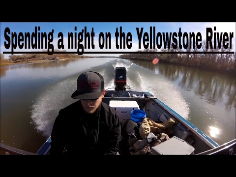 Sauger Fishing on the Yellowstone River .  Part 1 of 2
