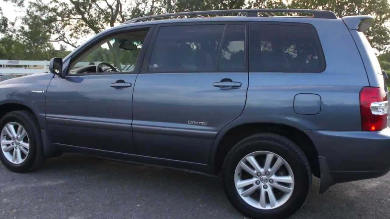 2006 toyota highlander limited hybrid for sale leather moon heated seats 3rd row seat youtube