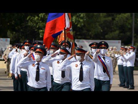 Марш Победы на российской военной базе в Таджикистане