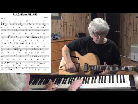 Alice In Wonderland - Jazz guitar & piano cover - Yvan Jacques