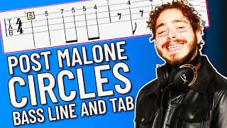 Post Malone - Circles Bass Line (with Bass Tab On Screen)