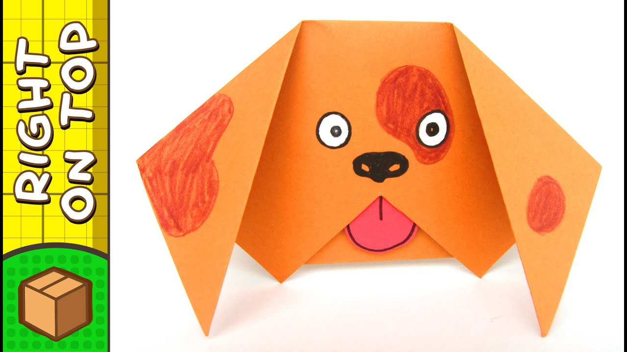 How To Make A Paper Dog | Origami For Kids | DIY on ... - photo#3