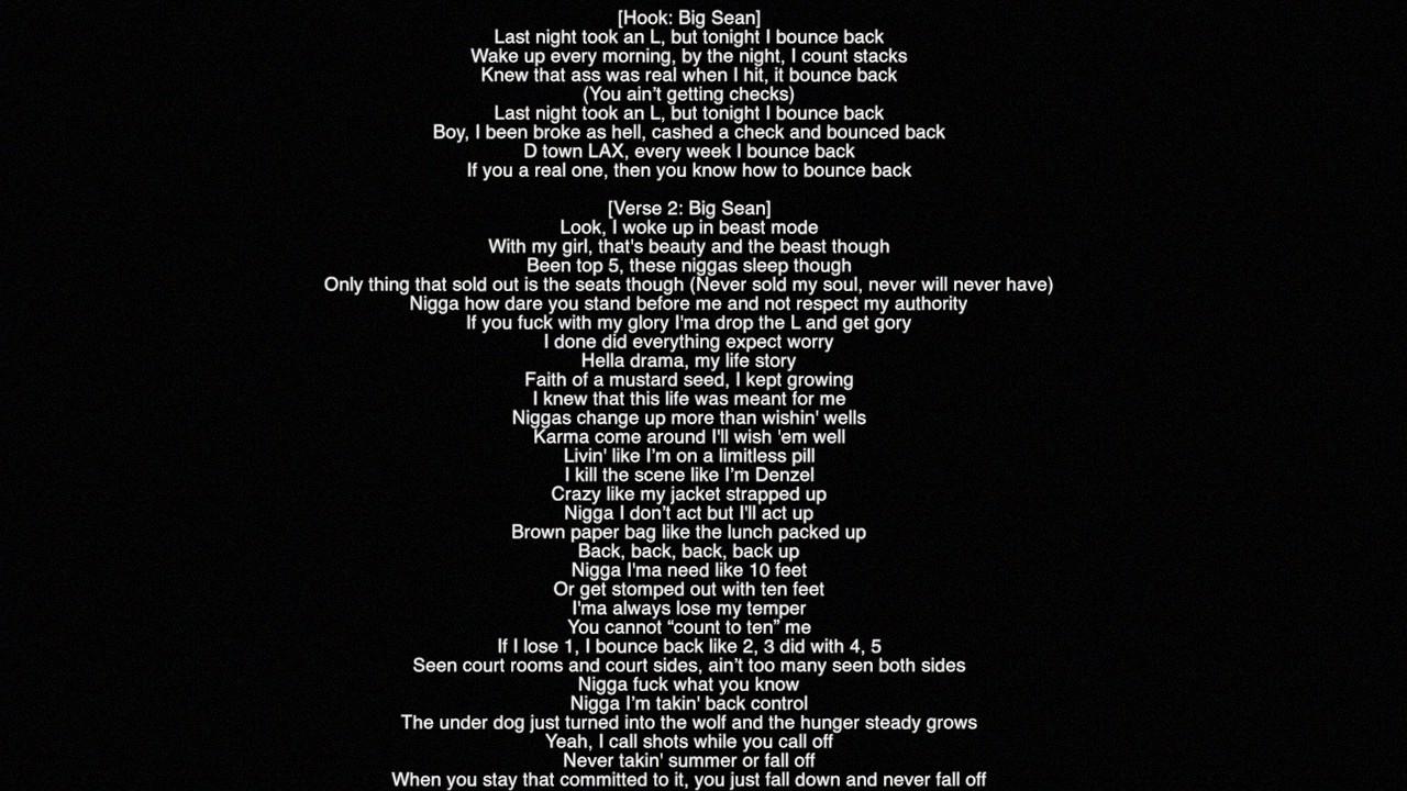 Ass big sean lyrics