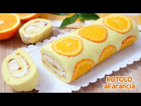 ROTOLO SOFFICE ALL'ARANCIA🍊 - Ricetta Facile - Orange Roll Cake