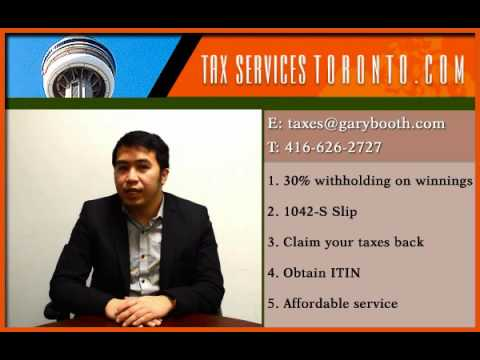 Tax-services-toronto | U.S. Gambling Winnings | Claim your taxes back | 416-626-2727