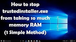 How to stop trustedinstaller.exe from taking so much memory RAM in Windows 7/8/10