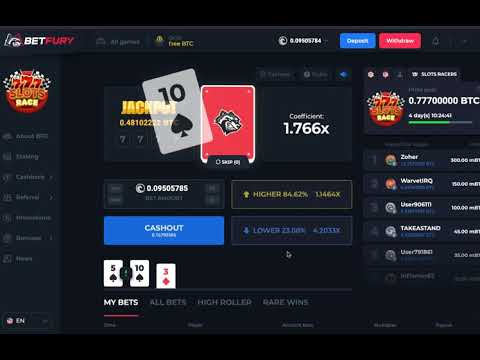 How To Play HiLo Game On Betfury Crypto Casino!!! Play For Free With Bitcoin Boxes!
