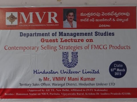 Guest Lecture on Contemporary Selling Strategies of FMCG Products.