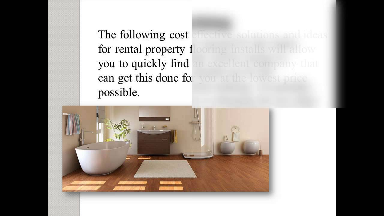 Cost Effective Flooring cost effective solutions and ideas for rental property flooring