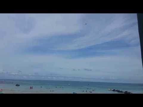Plane Leaving Koh Samui Airport over Chaweng Beach – Thailand
