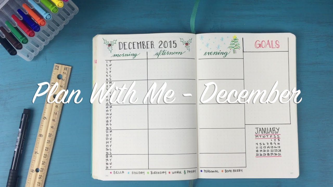 Plan with me 01 december youtube for Plan me