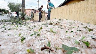 Tempestade de granizo devasta Santa Mariana