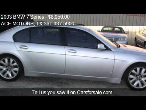 2003 bmw 7 series 745li for sale in corpus christi tx. Black Bedroom Furniture Sets. Home Design Ideas