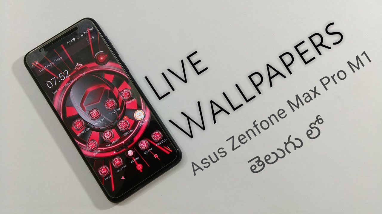 How to Use Live 3d Wallpapers on Asus Zenfone Max Pro M1 - YouTube