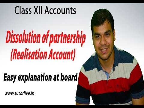 Dissolution of partnership firm - Realisation Account