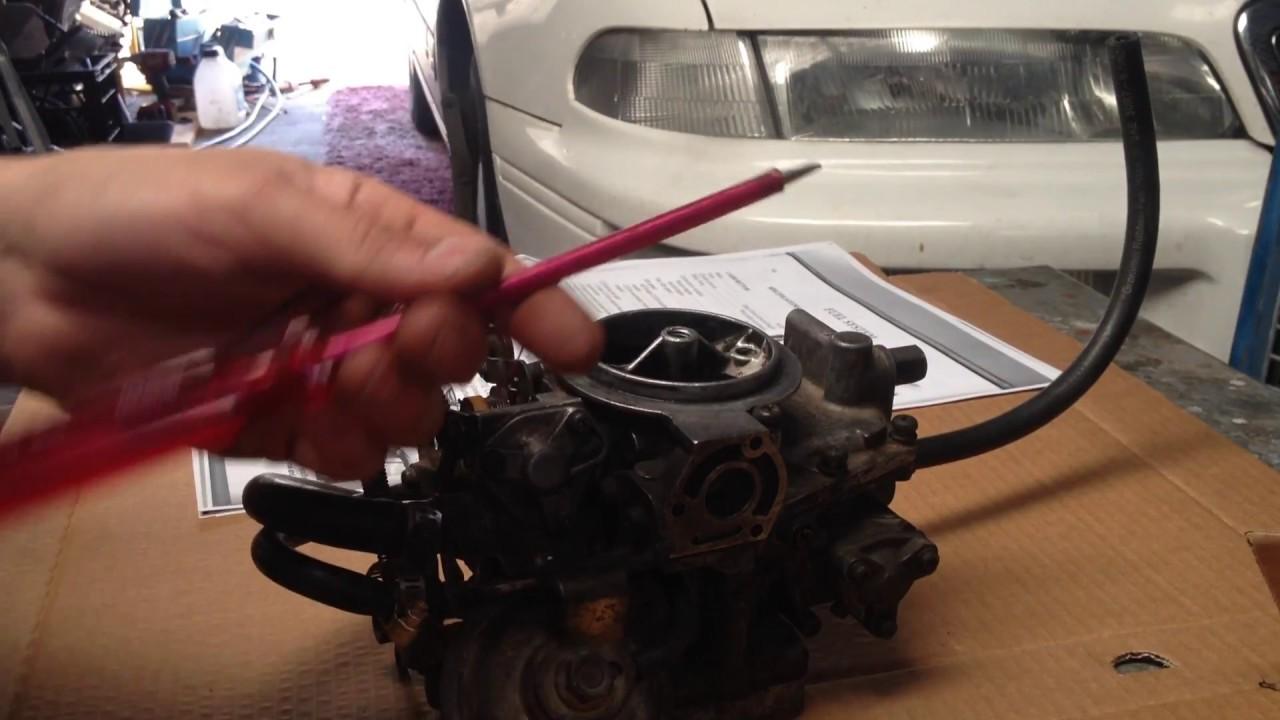 mitsubishi astron 4g52 sigma carburettor rebuild / mikuni solex part 1