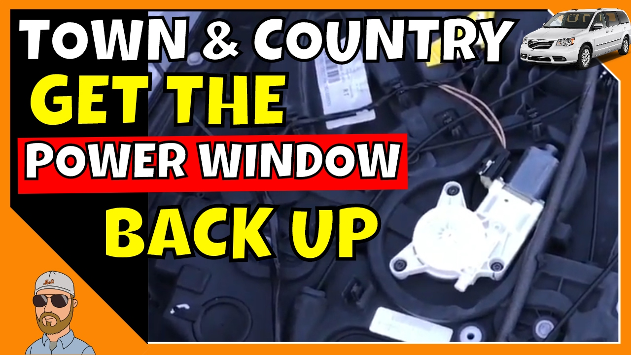T\u0026C Sliding Door Power Window Fix | Town and Country Door Removal | Town \u0026 Country Power Window