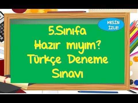 5.Sınıfa Hazırlık Türkçe Deneme Sınavı-Yardımcı Öğretmen