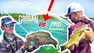 GOOGANS vs. ELITE PRO Fisherman CHALLENGE! (Most Fish WINS)