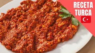La salsa de nueces -Receta de Acuka(Adjika,Ajika,muhammara)Comida Georgiana
