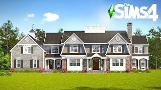 SINGLE DAD WITH 5 BOYS: Hamptons Mansion ~ Curb Appeal Recreation - Sims 4 Speed Build (No CC)