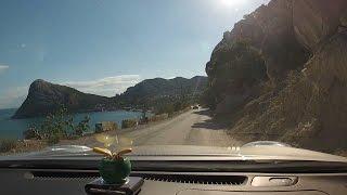 Как доехать в Новый Свет и зачем. В Крыму на авто.(Включили камеру по дороге в Новый Свет, сняли всю дорогу из Судака в Новый Свет. Комментарии из авто по мимо..., 2016-06-13T16:27:38.000Z)