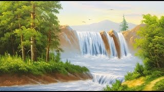 Уроки масляной живописи. Рисуем Водопад.
