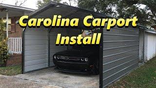 Carolina Carport Install