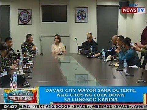 BP: Davao City Mayor Sara Duterte, nag-utos ng lock down sa lungsod kanina