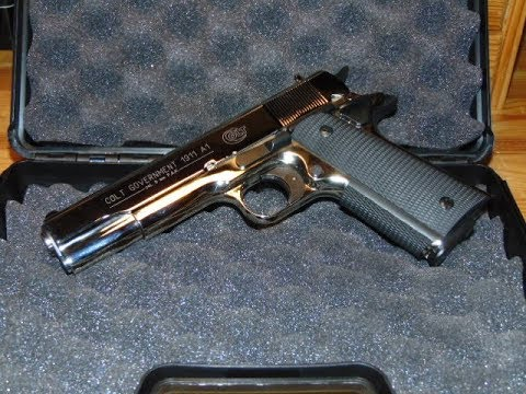 Colt Government 1911 A1 polished chrome 9mm PAK - Review und Schusstest