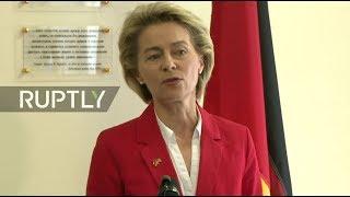 LIVE  Von der Leyen speaks alongside Mattis on 70th anniv  of Marshall Plan